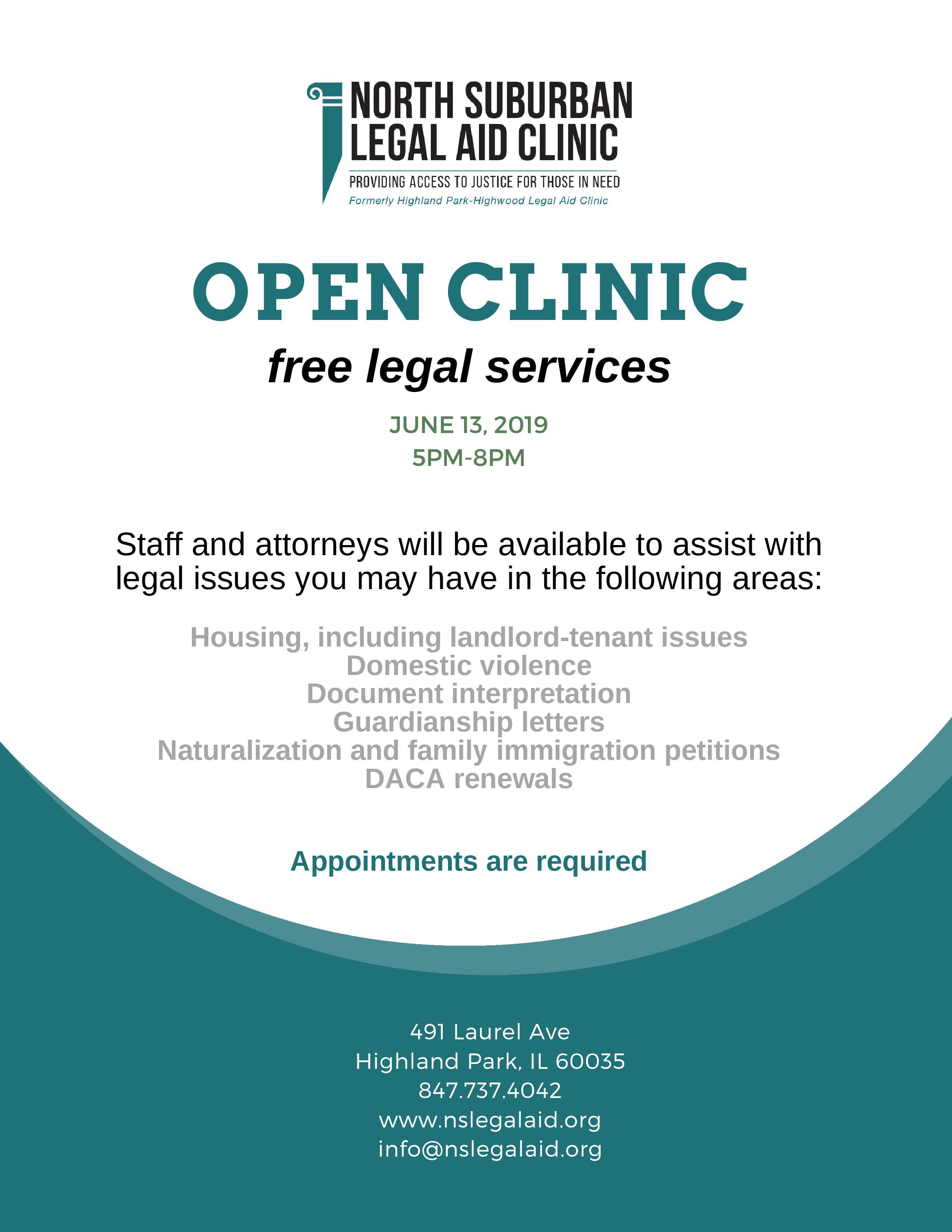 Home - North Suburban Legal Aid Clinic